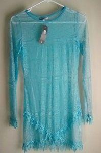 Solaris Blue Lace blouse .....new
